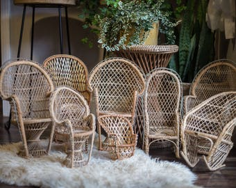 Mini Peacock Chairs And Rockers
