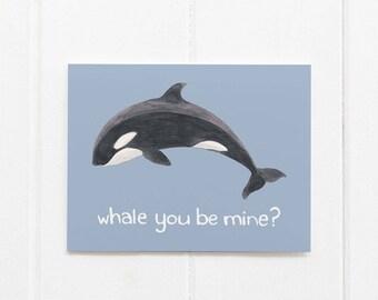 Orca Card / Washington State Card / Greeting Card / Valentine Card / Whale Card / Pacific Northwest Card / Washington / Cascadia Card / Orca