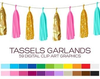 Tassel Garland Clipart Banner Clipart Pennant Clipart Bunting Clipart Christmas Clipart Wedding Clipart Carnival Clipart Birthday - A00146