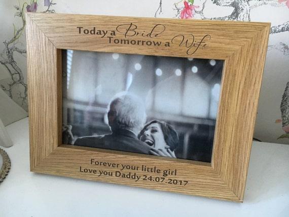 Wedding frame personalised 6x4\