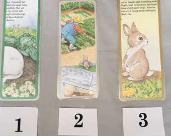 Peter Rabbit Recycled Book Bookmarks from Little Golden Book