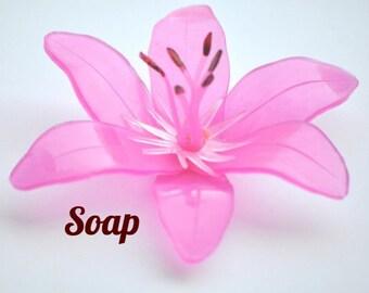 Unique Wedding Favor Tiger Lily Soap - Wedding Shower Favor ~ Tiger Lily Baby Shower Favor, Bridal Shower Favor, Wedding Soap Favor
