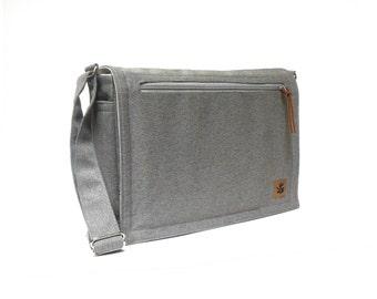 Ultimate Stash laptop messenger bag - gray