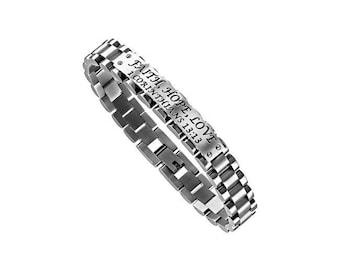 """GLX Bracelet """"Faith Hope Love"""""""