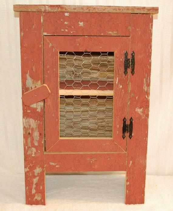 Chicken Wire Kitchen Cabinet Doors: Barnwood Cabinet With Chicken Wire Front Door. Measures: 18 X