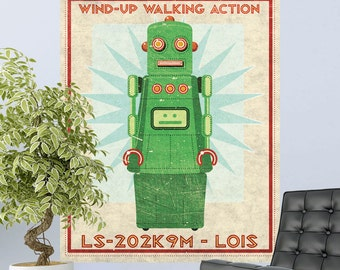 Robot Lois Wind Up Toy Lunastrella Wall Decal - #64328