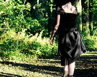 """Skirt """"Mary Reilly"""" - Black and chocolate"""