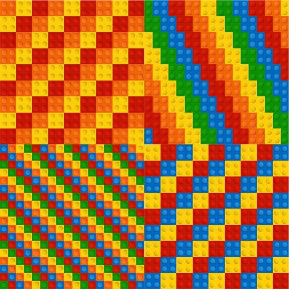 Lego tiles digital paper Clip art for home printing - Instant ...
