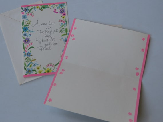 Vintage add a line greeting cards stationery pretty get well m4hsunfo