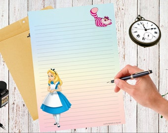 Printable Birthday Stationery Paper ~ A5 and a4 birthday unicorn printable letter paper