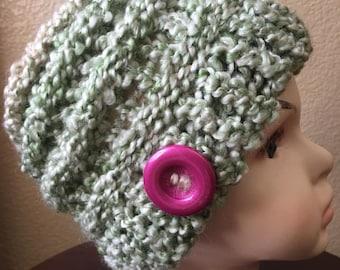 Girls Beanie..Girl fashion hat ..Size 1-3 years old , very soft yarn