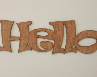 Hello Sign Engraved Wood Sign Wedding Gift House Warming Gift