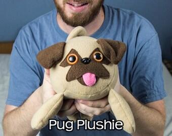 Chubby Pug Stuffed Dog Plushie