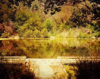 Nature Fine Art Photography Print, Large Landscape Wall Art, Dreamy Pond Print- Little Paradise