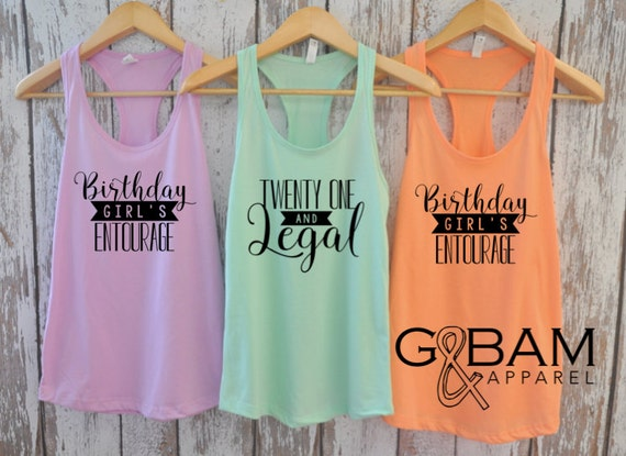 Birthday Party Tank top / 21st Birthday tank / 21st Birthday shirt / Twenty one