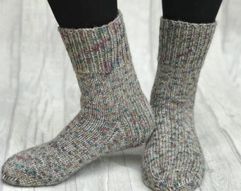 Mens knit socks Hand knit mens socks Mens knitted socks Winter mens socks Wool mens socks Warm socks for men Mens gift Husband gift to dad or1fu