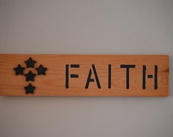 """Custom made """"Faith"""" sign"""