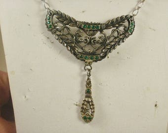 Ornate Vintage Garland Drop Necklace