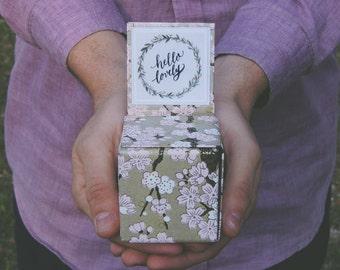 Proposal ring box, wooden wedding ring box, Proposal box, Box for proposal, Engagement ring box, Engagement gift, Ring box, Engagement gift
