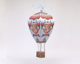 Set of 20 hot air balloon wedding gifts, papertoy souvenir