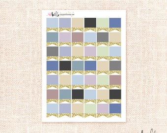 Glitter page flags - 42 MINI NEUTRAL planner stickers