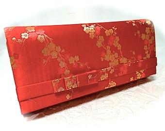 Vintage Cherry Blossom Handbag Vintage Clutch Evening Bag VH-127
