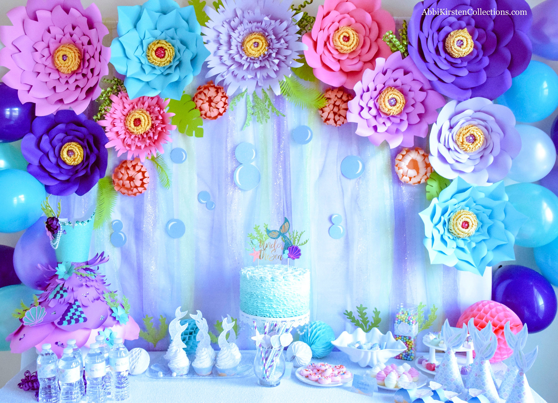 Set Of 5 Giant Paper Flower Templates Large Diy Backdrop