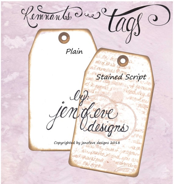 Build ~A~ Bellishment Remnants ~ Tags in Stained Script & Plain