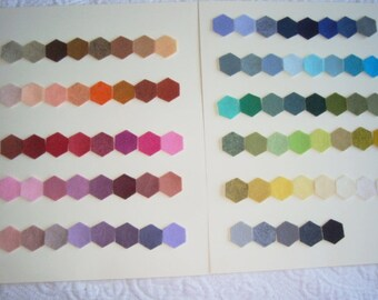 Wool blend Felt by the sheet  9 by 12 sheets your choice any 5 sheets