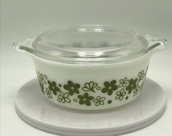 Vintage Pyrex Spring Blossom 1.5 Pint Covered Casserole Dish