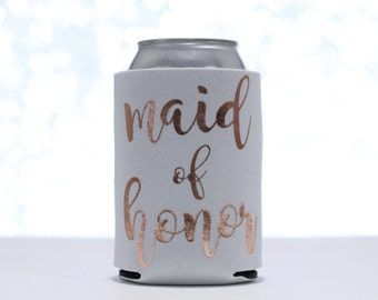 Can Cooler - Rose Gold Can Cooler - Bachelorette Party - Bachelorette Party Favors - Wedding Party Gift - Gift for Bride