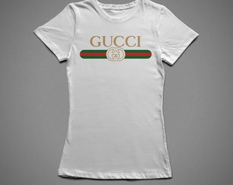 Gucci ribbon, T-shirt with individual design, 100% cotton, for woman