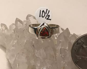 Fire Opal Ring, Size 10 1/2