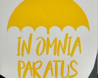 Gilmore Girls In Omnia Paratus Decal, Vinyl Decal, Custom Decal, Car Decal, Yeti Decal, Vinyl Sticker