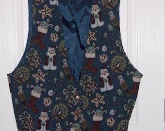 Ugly Christmas Vest Size 22W Backroad Blues Jeanswear  **Free USA Shipping**