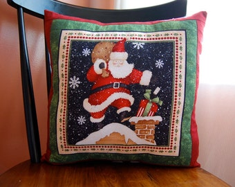 Santa is Coming to Town, Christmas Pillow, Holiday Decor