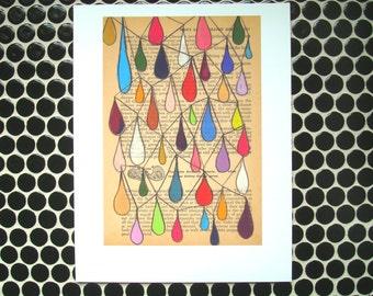 Chandelier - Fine Art Giclee Print, Digital Print, Teardrops, Rain, Rainbow