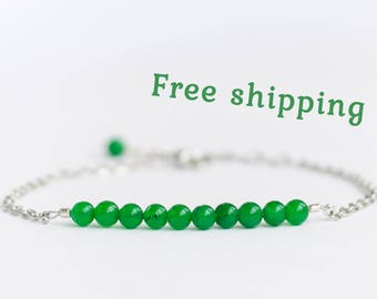Chrysoprase bracelet, Chrysoprase jewelry