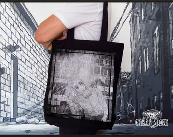 "Tote bag ""game over 2"" fair trade & organic"