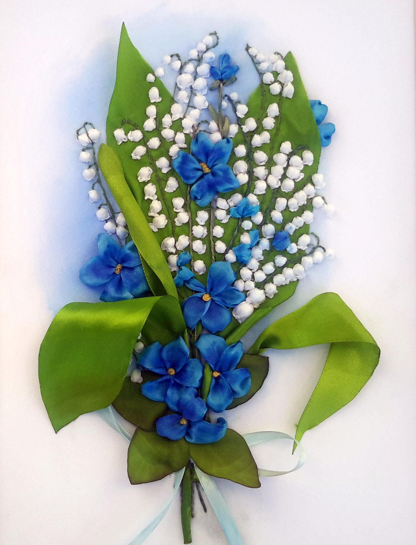Spring Bouquet Lilies 3d Silk Ribbon Embroidery Lilies Of The