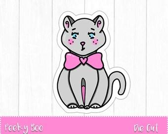 Hand Drawn Die Cut - Peeky Boo - Planner Die Cuts - Cat Die Cut - Funny Die Cut