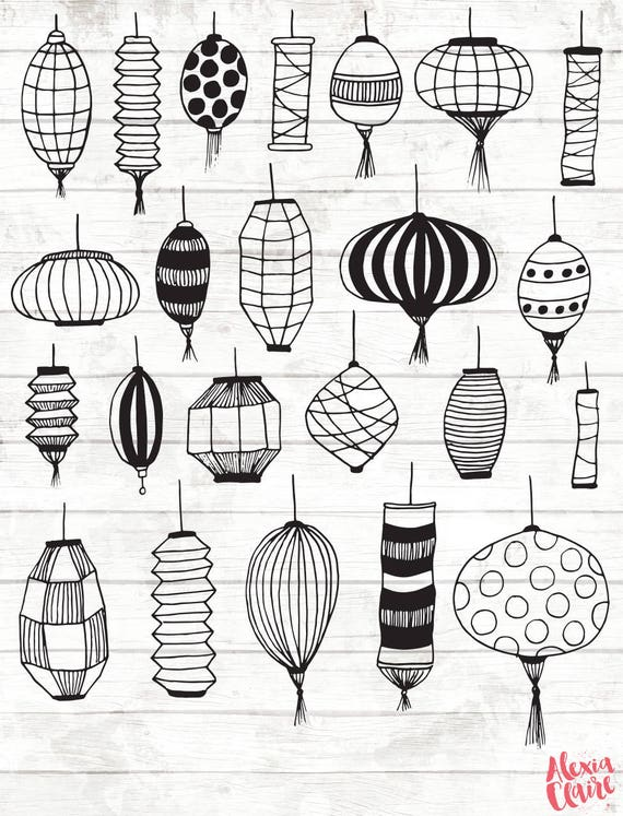 Paper Lantern Clipart Chinese lantern clipart moroccan