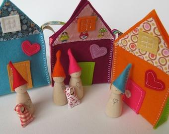 Sweet little travelling family house - Bubble gum -