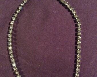 Vintage Signed Joseph Wiesner Rhinestone Necklace