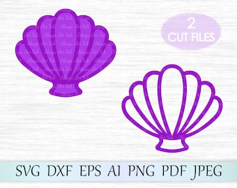 Shell svg file, Sea shell clipart, Mermaid shells svg, Mermaid t-shirt design, Seashells svg cricut, Shell Tshirt design, Mermaid clam svg