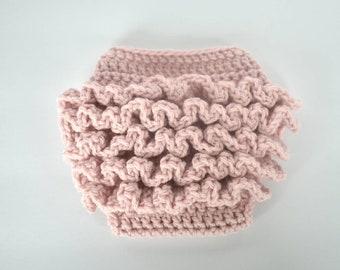 Ruffled Bloomer, Newborn Photo Prop, Diaper Cover, baby bloomer, Photography prop, Ruffle Diaper Cover