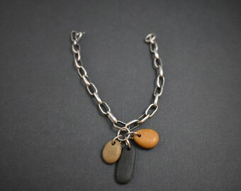 Bracelet - Silver and natural stones
