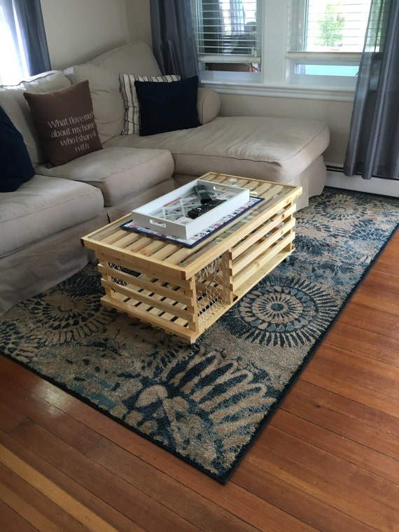 10 COATS of Polyurethane Wooden Lobster Trap Coffee Table