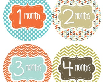 Baby Month Stickers Instant Download Printable Baby Boy Cars