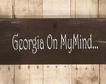 Georgia on my mind made from old dresser drawer fronts.